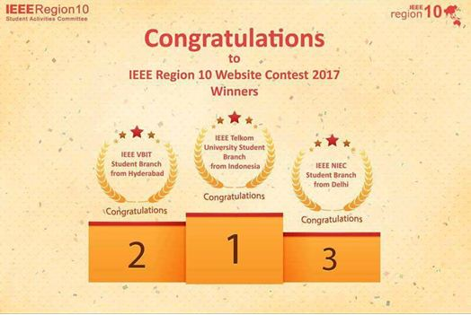 IEEE-VBIT SB has bagged 2nd position in IEEE Region 10 (Asia-Pacific) website contest 2017