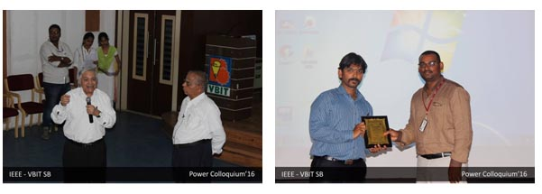 3rd Aug 2016-Power and Energy Society chapter of IEEE-VBIT SB has conducted Power Colloquium 2K16