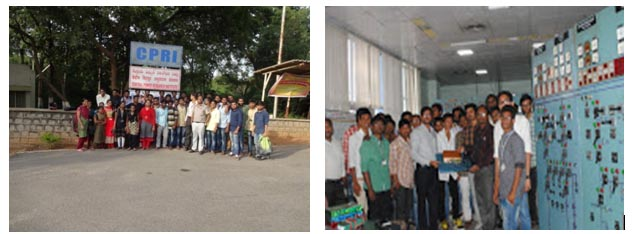 Vbit college visit to Central Power Research Institute-eee dept